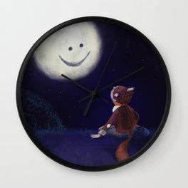 Moon buddies Wall Clock