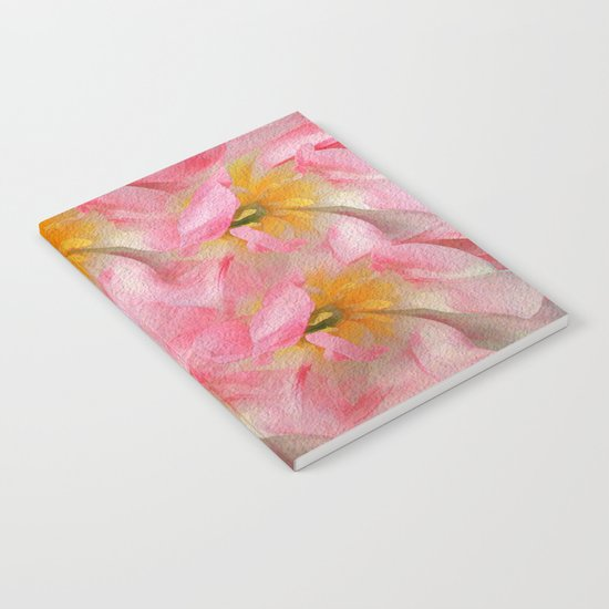 Fancy Painted Tulips Notebook