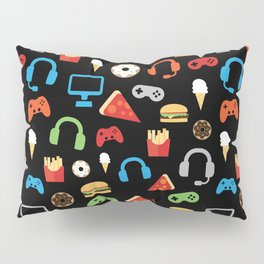 Video Game Party Snack Pattern Pillow Sham
