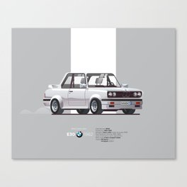 BMWE30 Car Poster Canvas Print