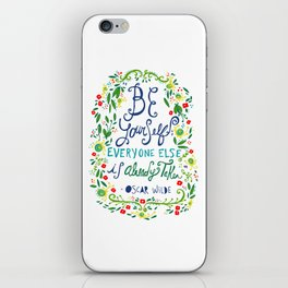 Be Yourself iPhone Skin