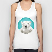 triangles Tank Tops featuring ♥ SAVE THE POLAR BEARS ♥ by ℳixed ℱeelings