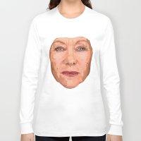 helen Long Sleeve T-shirts featuring Shaping the Stars - Helen Mirren by zajface