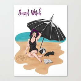 Sand Witch Canvas Print