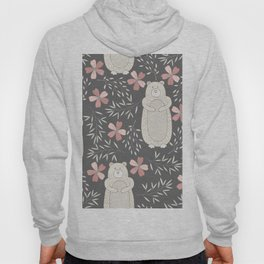 Bear and Flowers Hoody