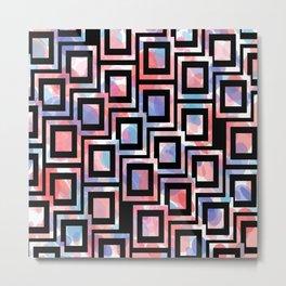 Black and White Squares Pattern 06 Metal Print