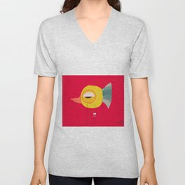 Crazy Bird Unisex V-Neck