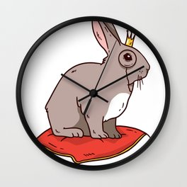 Rabbit with crown Wall Clock