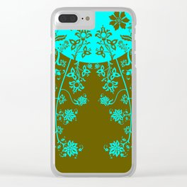 floral ornaments pattern vop150 Clear iPhone Case