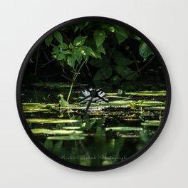 Lone Lily Pad Wall Clock
