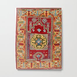 Konya Central Anatolian Niche Rug Print Metal Print