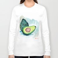 avocado Long Sleeve T-shirts featuring Avocado by Elena Sandovici
