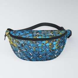 Pattern Breaker Tiles Collection: 5-9-01 Blue & Yellow Color Fanny Pack