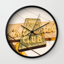 The Continental Club Wall Clock