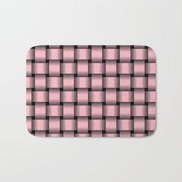 Light Pink Weave Bath Mat