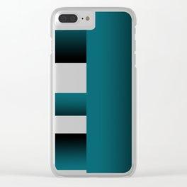 Trama turquesa Clear iPhone Case