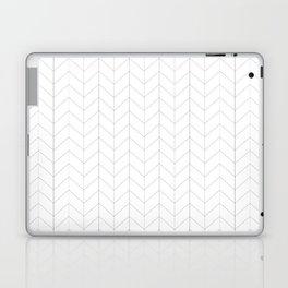 Herringbone Black and White Laptop & iPad Skin