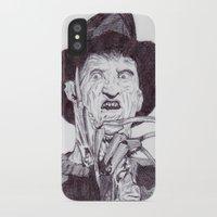 freddy krueger iPhone & iPod Cases featuring krueger by DeMoose_Art