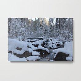 Snow Pillows Metal Print