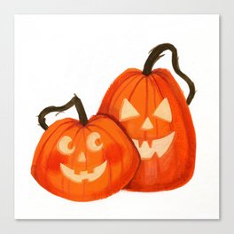 Jack O Lanterns Canvas Print