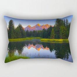 Grand Teton National Park Wyoming Landscape Mountain Sunrise Rectangular Pillow