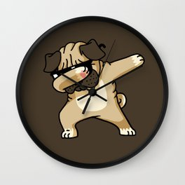 Dabbing Pug Wall Clock
