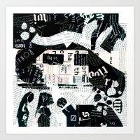 Paper People Art Print