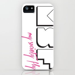 MSF Whiteout - My Society Fly iPhone Case