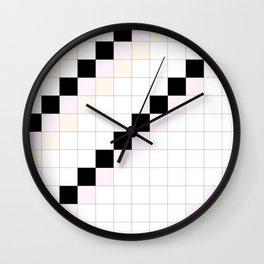 CHECKED BLACK, ROSY, PEACH - carreaux noir, rose & pêche Wall Clock