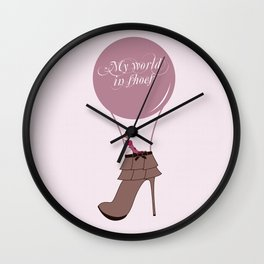 Montgolfiere shoes Wall Clock