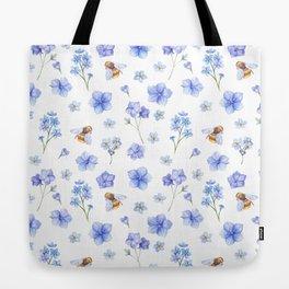 Elegant lavender brown watercolor honey bee floral Tote Bag