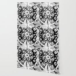 Black and White Talavera Eleven Wallpaper