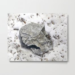 STONES SNOW NUGGET Metal Print