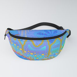 LABYRINTH. (blue) Fanny Pack