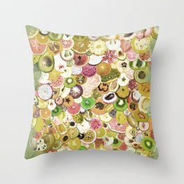 Fruit Madness (All The Fruits) Vintage Throw Pillow