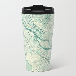 Bremen Map Blue Vintage Travel Mug