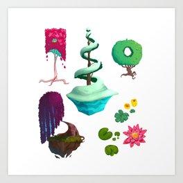 Stylized Trees Art Print