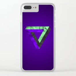 The infinity triangle inverted Clear iPhone Case