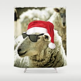 Tis The Season - Sheep Shower Curtain