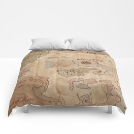 Map of Hyrule- Legend of Zelda Comforters
