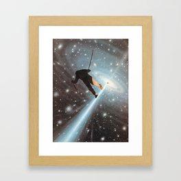 For Stephen Hawking - Reach For The Stars Framed Art Print
