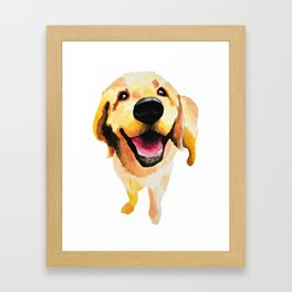 Good Boy / Yellow Labrador Retriever dog art Framed Art Print