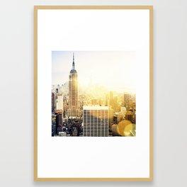 New York city with bokeh Framed Art Print