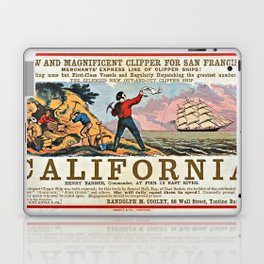 A NEW AND MAGNIFICENT CLIPPER FOR SAN FRANCISCO. MERCHANT'S EXPRESS LINE OF CLIPPER SHIPS! Laptop & iPad Skin