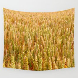 Golden Wheat Field Wall Tapestry