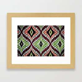 Bargello hourglass -  does anyone really know what time it is? Framed Art Print
