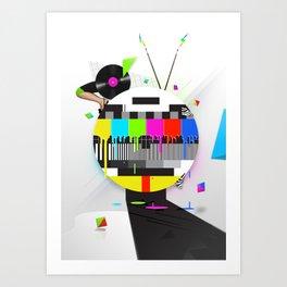 Molten Colour Bars Art Print