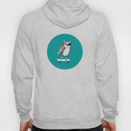 Ride On Owl_teal Hoody