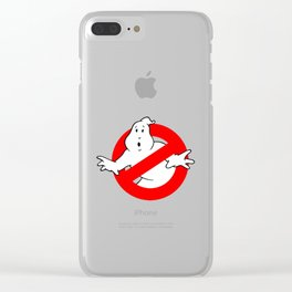 Ghostbuster Logo Clear iPhone Case