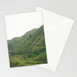 Green Giant   Peaceful Cloudy Nature Landscape Photography of California Hills Stationery Cards